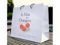 Sac en papier satin�  Le Mas des Orangers -Biot-
